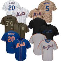 ingrosso grandi fragole-Mens 2019 New York Pete Alonso Big Tall Mets Jersey Taglia XS-6XL Noah Syndergaard Darryl Strawberry Robinson Cano Wilson Ramos Jacob deGrom