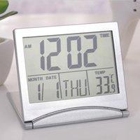 saat termometresi zamanlayıcı toptan satış-Yeni Moda Elektronik Çalar Saat LCD Termometre Higrometre Nem Zamanlayıcı Moda Yeni LCD Elektronik Çalar Saat