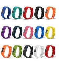bandas de reemplazo de vivofit al por mayor-2019 Nueva correa de banda de reloj de pulsera de silicona suave para Garmin Vivofit3 Vivofit 3 Smart Watch