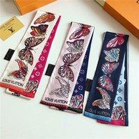 ingrosso decorare borse-sciarpe di seta di marca sciarpe di seta stampate squisito sciarpe di modo della cinghia dei capelli delle donne degli uomini decorate con la sciarpa della farfalla