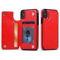 многофункциональные телефонные кошельки оптовых-Многофункциональный бумажник чехол роскошный PU кожа сотовый телефон задняя крышка с слотами для кредитных карт для iPhone Xs Max Xr S10 Lite 9 8Plus Samsung