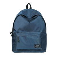 ingrosso zaino universitario blu-Zaino per ragazze Fashion Classic Blue poliestere donne College Student Cute School Bag per ragazze Bookbag Shoulder Bag Daypack