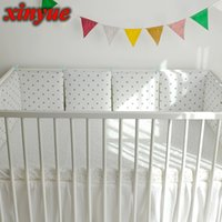 Wholesale baby bear crib bedding set for sale - Group buy Bed Bumper Sets Pillow Room Cot cm Triangle Braid Protector Bumpers in the Cribs Dot For Newborn Baby Decor Bear Baby