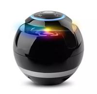 bluetooth mini hi fi toptan satış-Magic Ball Subwoofer Mini ile Kablosuz Taşınabilir Bluetooth Hoparlörler Mini Yuvarlak Hi-Fi Hoparlör iPhone iPad için Kapalı Açık