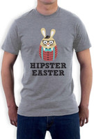 Wholesale free easter eggs resale online - Happy Hipster Easter Funny Bunny Egg Gift T Shirt Cool Graphic Tees Boyfriend Gift RETRO VINTAGE Classic t shirt