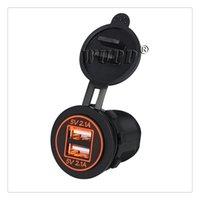 ingrosso automobile di uscita del usb-Presa di ricarica doppia USB 4.2A Vendita calda Presa di corrente 12-24 V Universale per auto Moto alta qualità
