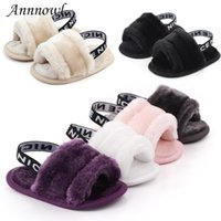 Wholesale dress shoes soft soles resale online - Fashion Brand Baby Girl Shoes Anti slip Soft Sole Toddler Fur Shoe Newborn Footwear Infant for Year Old Boys Party Dress Gifts