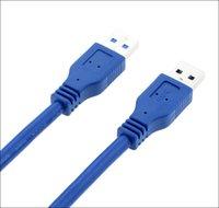 usb kablo mavi toptan satış-1 M uzunluk süper hızlı kaplama USB3.0 kablosu Bir erkek Bir erkek Mavi USB 3.0 uzatma Kablosu
