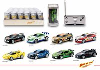 Wholesale battery radio control resale online - 48pcs Creative Coke Can Remote Control Mini Speed RC Micro Racing Car Vehicles Gift For Kids Xmas Gift Radio Contro Vehicles