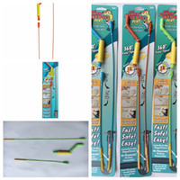 Wholesale hair spins resale online - THE DRAIN WEASEL PLUS Hair Clog Tool Handle Disposable Wands Spin Pipeline Dredging Device hair cleaning Tools FFA1874