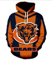 neue mode mäntel männer großhandel-New Fashion Damen / Herren Harajuku Style Chicago Bears Lässige 3d Printed Crewneck Sweatshirts Hoodies Unisex Sportwear Coat
