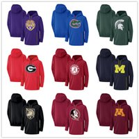 sudadera negra con capucha al por mayor-Sudadera con capucha y cremallera Florida Gators Alabama Crimson Army Black Knights Michigan Wolverines Georgia Bulldogs Michigan State Drive Performance