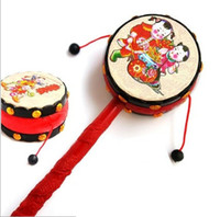 Wholesale drum musical baby resale online - children s toys Good quality auspicious wave drum Baby Rattle Musical Instruments drum33
