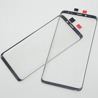 panel táctil para la nota al por mayor-10 UNIDS Reemplazo de Lente de Cristal Externo de Pantalla Frontal de Calidad Superior Para Samsung S8 S9 Plus Note 8 Reparación de Cristal del Panel Táctil Roto