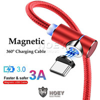 Wholesale micro usb v8 magnetic charging cable online – 3A Magnetic USB Sync Data Cable Fast Charger Line ft ft Micro V8 USB Quick Charging Cord Degree Design for Game noey