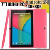 ingrosso compressa 1gb ram 8gb rom-7 pollici Q88 Compresse Quad Core AllWinner A33 1.2GHz Android 5.1 1GB di RAM 8GB Bluetooth ROM WiFi OTG Tablet PC A-7PB
