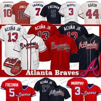 86f89ffe2 Wholesale dale murphy jersey online - 13 Ronald Acuna Jr Atlanta Braves  jersey Freddie Freeman Hank