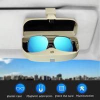 Wholesale car eye visor resale online - Glasses Case Holder Clip for Car Sun Visor Eye Sunglasses Organizer Mount with Ticket Card Clip Apply to All Car Models