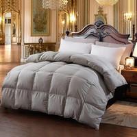 Wholesale king comforter sizes online - New Hot Goose Down Comforter For Winter Autumn Duvet Insert Blanket Filling Feather Down Quilt Duvet King Queen Twin Size