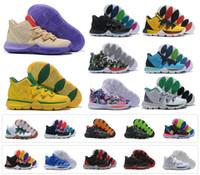 zapatillas de deporte de tobillo para hombre al por mayor-2019 New Mens Kyrie V zapatos de baloncesto Irving 5S Black Magic egipcio Faraón camuflaje 5 Zoom Zapatillas de deporte de entrenamiento Tobillo alto US 7-12