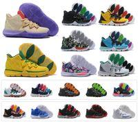 high ankle sneakers großhandel-Ägyptische Pharao-Tarnung 5 des Sport-Kyrie V der Männer 2019 der Irving-5S schwarzen magischen Zoom Sport-Trainings-Turnschuhe hoher Knöchel US 7-12