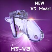 cinturón pantalones vibrador al por mayor-Nuevo diseño de bloqueo Dispositivo de castidad de resina biosourced masculino V3