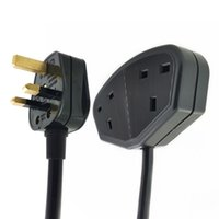 Wholesale male ac plug for sale - Group buy UK Male Plug to Double Female Socket Power Extension Cable With Fuse To Outlet Rewirable AC Cord For Singapore Malaysia ASTA Aprroved