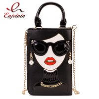 Wholesale decorate handbags for sale - Group buy New Style Sexy Woman Fashion Pattern Earrings Decorated Female Totes Ladies Shoulder Bag Crossbody Messenger Bag Casual Handbag