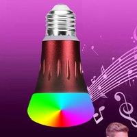 e26 rgb led birnen großhandel-Neue LED-Lampe Die Google HOME Voice-Smart-Glühbirne von Amazon ALEXA ist mit Audio-Smart-Light kompatibel
