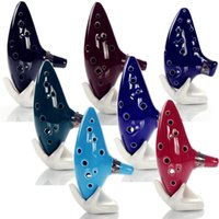 Wholesale tapping toys for sale - Group buy 12 Holes Ocarina Legend Alto C Flute Occarina Taps Blue Ceramic Clay stl Orcarina Inspired of Time