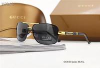 gafas de sol rectangulares polarizadas para hombre al por mayor-Hombres Aluminio Magnesio Aviación Aleación HD TAC Gafas de sol polarizadas para hombre Deporte Retro Rectángulo Gafas Gafas de sol Disparos Conductor Pesca