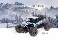 uzaktan kumandalı araba aküleri toptan satış-Yeni RC Araba 2.4 GHz Radyo Uzaktan Kumanda ile 1:18 Model Ölçekli Oyuncak Araba Pil 20 km / saat RC Oyuncak Arabaları