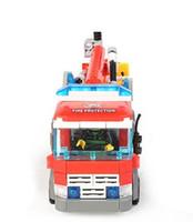 огнеупорный кирпич оптовых-Кирпичные игрушки Серия Kazi Fire Fight Fire Truck Building Block Устанавливает 244 + шт. Кирпич Lecomingly Обучающие DIY Подарок Строительные игрушки для детей