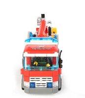 fire brick blocks venda por atacado-Tijolos de tijolos Kazi Fire Fight Series Caminhão de Bombeiros Conjuntos de Blocos de Construção 244 + pc tijolo Legoingly Educacional DIY Presente brinquedos de Construção para crianças