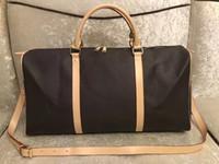 equipaje s al por mayor-2018 nueva de la bolsa de lona bolsa de viaje de las mujeres los hombres de moda y, bolsa de equipaje de cuero de gran capacidad de la bolsa de deportes 55CM