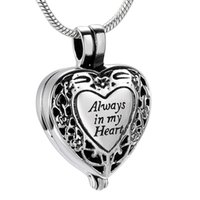 Wholesale pet cremation jewelry for sale - Group buy IJD9958 Unique Always In My Heart Cremation Pendant Keepsake Necklace Ashes Urn for Pet Human Memorial Jewelry Free Engraved