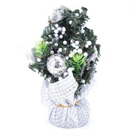 игрушечная елка оптовых-Merry Christmas Tree Bedroom Desk Decoration Toy Doll Gift Office Home Children Natale Ingrosso Christmas Decorations for Home