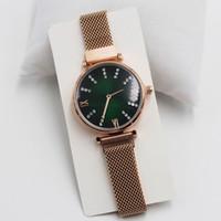 f5c0d3f1c79a 2019 marca de lujo reloj damas oro rosa cuadrado negro diamante estrellado  correa de acero inoxidable regalo imán de cuarzo reloj azul moda casual
