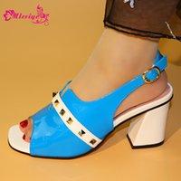 насосы для дам оптовых-Новый 2019 Небесно-Голубой Цвет Итальянские Дамы Сексуальные Туфли На Высоких Каблуках Женщины Насосы Стразы Дамы Насосы Африканский Сандалии