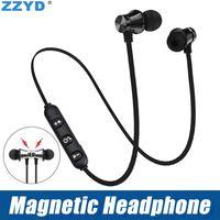 ingrosso rumore che annulla i trasduttori auricolari del bluetooth-ZZYD Cuffie magnetiche Noise Cancelling Auricolari In-Ear XT-11 Auricolari Bluetooth senza fili per iP8 8s Max Samsung con scatola al minuto
