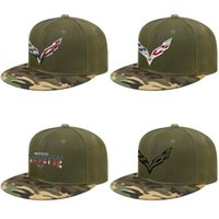 Wholesale hats sale logos for sale - Group buy Corvette D effect flag for sale Mens and womens Trucker Camouflage Cap Custom Fashion baseball Personalized hats Original logo stingray