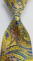 ingrosso legami floreali blu-Brand New Geotae Zerun Classic Elegante Paisley Floral Gold Blue JACQUARD Woven Seta cravatta cravatta GZ4