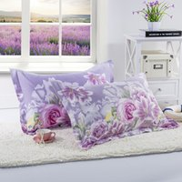 Wholesale beauty bedding for sale - Group buy 100 Polyester Pillow Case Beauty Flowers Printing Pillowcase Home Bedroom Pillow Cases for Bed cm cm Home Decoration