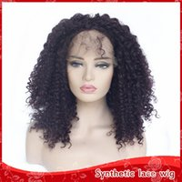 9dce43d2580 Wholesale afro kinky curly half wigs for sale - 180 Density Black Long Afro  Kinky Curly