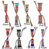 Wholesale braided watches for sale - Group buy Colorful Nylon Woven Band for Apple Watch mm mm mm mm Women s Creative Hand Made Braided Straps for Apple Watch Band