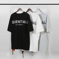 bayanlar moda basketbol formaları toptan satış-Kısa Kollu Casual Pamuk Designer baskı Tanrı Sis Essentials Erkekler Tişörtler Yaz T gömlek erkekler mektubu Fear Tees Tops