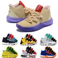 basketbol brazilu toptan satış-Kutu ile 2019 En Ucuz 5 PE Taco Kavramları x Ikhet Brezilya Neon Karışımları Siyah Sihirli Erkek Basketbol Ayakkabıları için 5 s Spor Sneakers