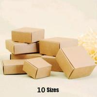 ingrosso scatola di monili del diy del diy-30 pezzi / lotto cartone mini cartone 10 formati scatole di carta kraft fai da te imballaggio del sapone contenitore di regalo dell'imballaggio dei monili