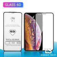 emballage iphone anti-reflets achat en gros de-Verre Trempé Pleine Couverture Pour iphone X XS MAX XR Protecteur d'écran AB Colle Bord à Bord POUR IPHONE 6 7 8 Plus Sans paquet