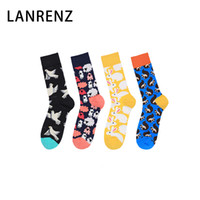 Wholesale fun tube for sale - Group buy LANRENZ pairs The latest sheep squirrel peace dove happy socks Funny fun cotton women s tube socks
